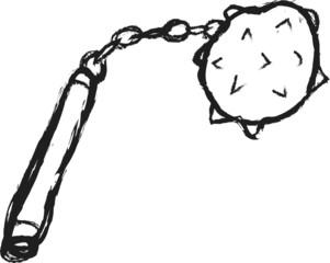 doodle medieval mace