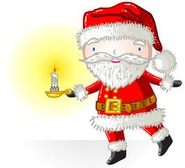 Père Noël chandelle