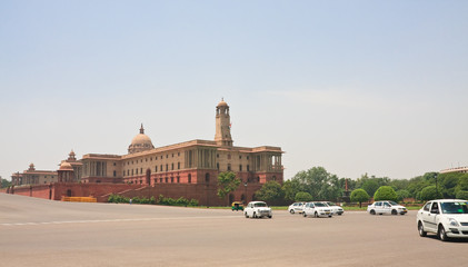 Esplanade Rajpath. The Indian government buildings. New Delhi