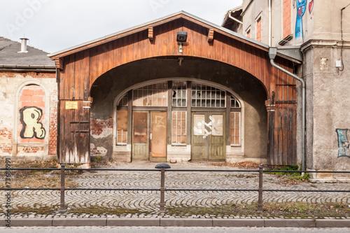 Staande foto Treinstation Bahnhof Limbach Oberfrohna