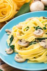 Mushroom Spinach Pasta