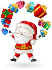 Père Noël jongleur