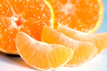 Mandarinen Nahaufnahme