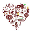 Conceptual background with coffee design elements.