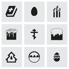 Vector easter icons set