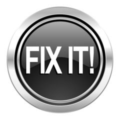 fix it icon, black chrome button