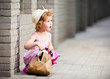 Cute little girl with bag