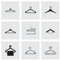 Vector hanger icons set