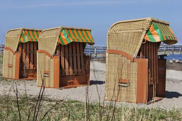 Strandkörbe in Landballig
