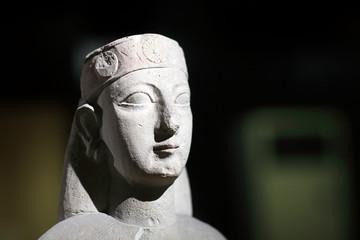 Details ancient sculpture of woman