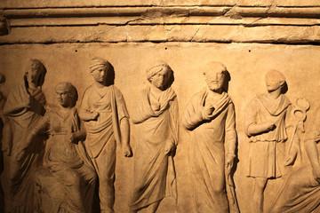 Details of ancient sarcophagus