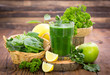 Fresh green smoothie in the glass - 73688300