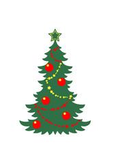 Weihnachtsbaum Weihnachten Kette Stern Weihnachtskugeln