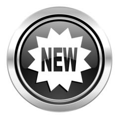 new icon, black chrome button