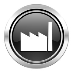 factory icon,  industry sign, manufacture symbol