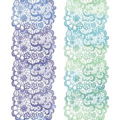 Lacy elegant watercolor border. Lacy vintage trim.