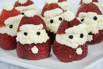 Christmas holiday Strawberry Santas dessert party food