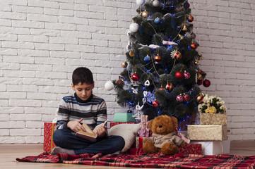 Чтение под Новогодней елкой