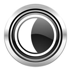 moon icon, black chrome button, sleep sign