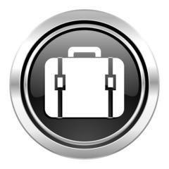 bag icon, black chrome button, luggage sign