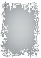 Christmas snowflakes grunge frame