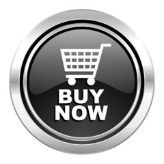 buy now icon, black chrome button