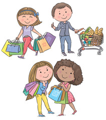 Shopping kids