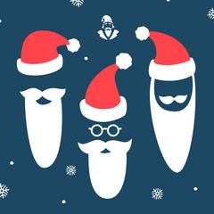 Santa beard face