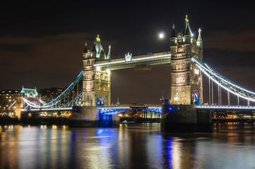 Moon over Tower Bridge