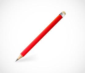Realistic red pencil vector