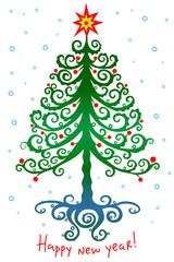 Magic Christmas tree with star-01
