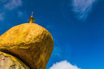 Golden rock called Kyaikhtiyo pagoda in Myanmar