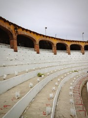 bull fighting ring details in Mexico