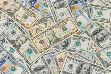 Group of banknote in US currency