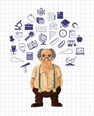 Vector education illustration icon set