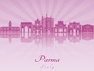 Parma skyline in purple radiant orchid