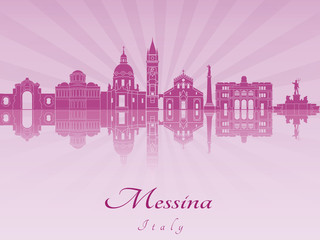 Messina skyline in purple radiant orchid
