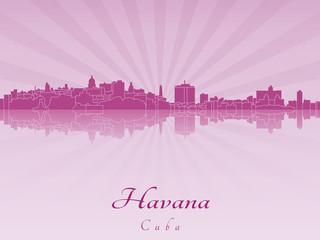 Havana skyline in purple radiant orchid