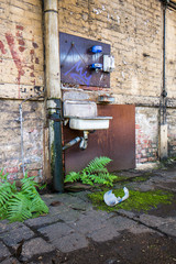 Lost Place DDR Emaille Waschbecken