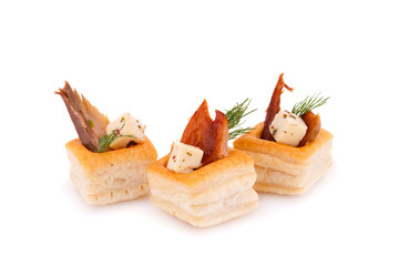 Smoked fish in pastries