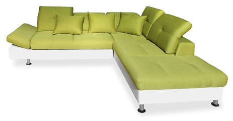 Big green sofa