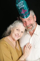 Senior Couple New Years Eve
