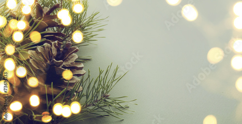 canvas print picture christmas tree light