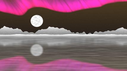 Arctic pole generated seamless loop video