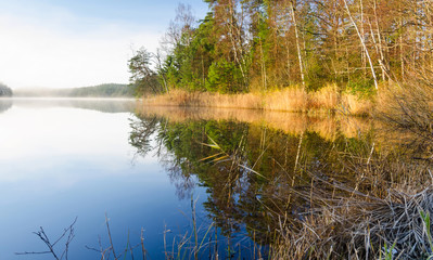 November lake mirror