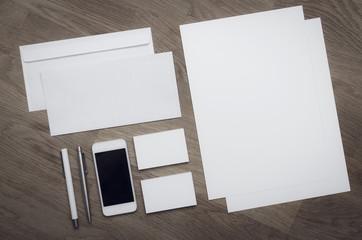 Letterhead and logo design blank template