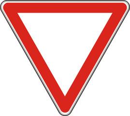 Verkehrszeichen, Vorfahrt gewähren