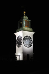 Clock tower at Novi Sad