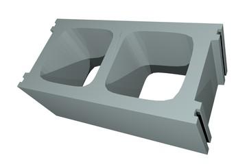 3D Art Cinder Block