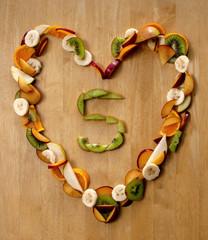 Healthy Heart ...? Eat 5 a Day fresh fruit n veg.
